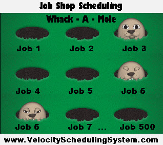 Job Shop Scheduling Whack A Mole